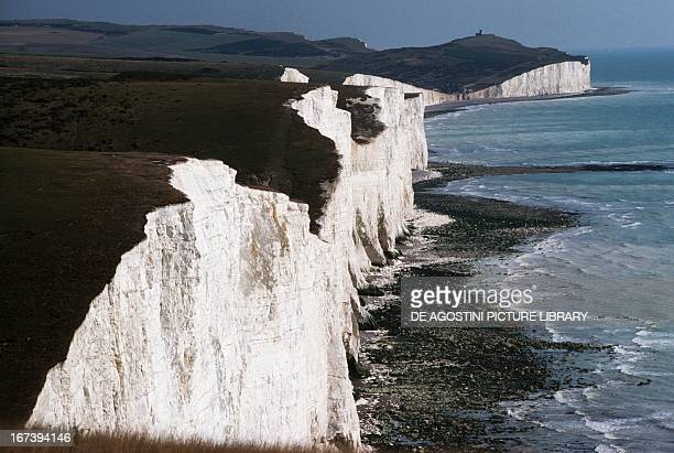 The Seven Sisters, a series of limestone cliffs overlooking the English Channel in the area of Dover, Kent county, United Kingdom.