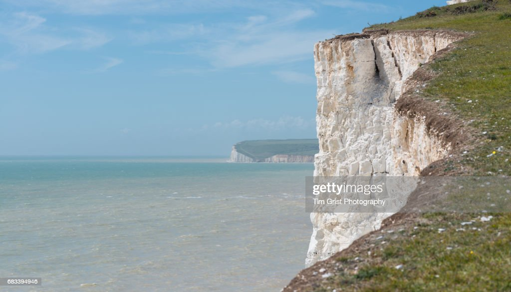 The Seven Sisters Chalk Cliffs : Stock Photo