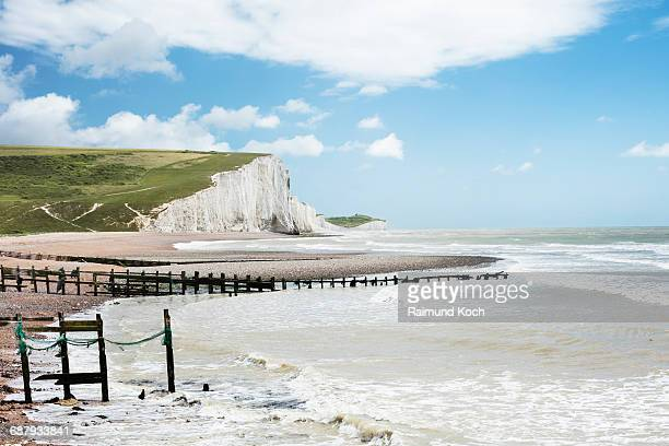 the seven sisters cliffs - eastbourne stock pictures, royalty-free photos & images