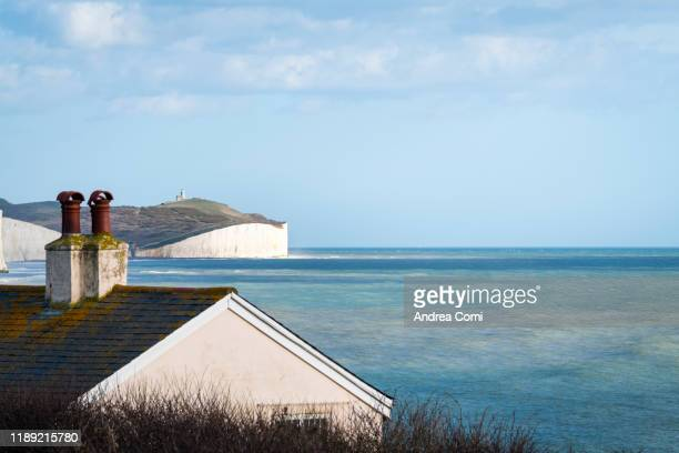 the seven sisters cliffs, seaford, england - cottage stock pictures, royalty-free photos & images