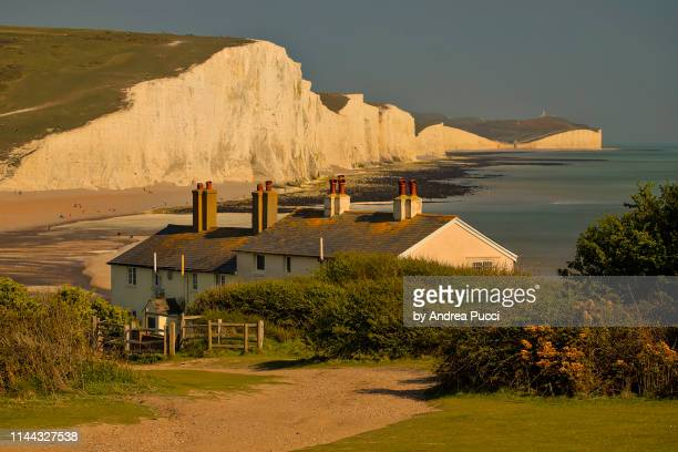 the seven sisters, east sussex, united kingdom - hill range stock pictures, royalty-free photos & images