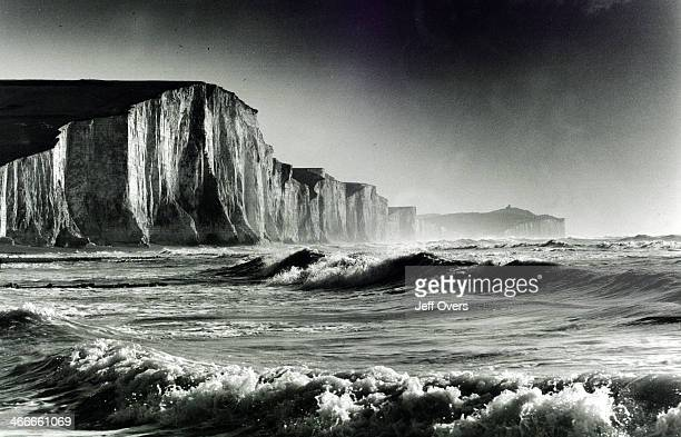 The Seven Sisters General view of the White Cliffs in East Sussex