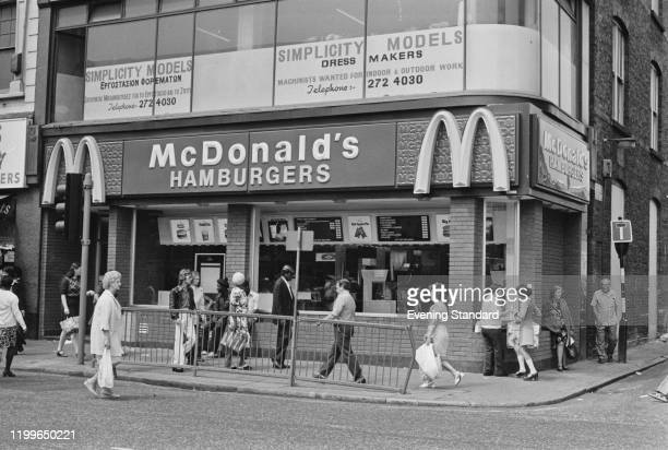 The Seven Sisters Road branch of McDonald's shortly after it opened in London England 1976