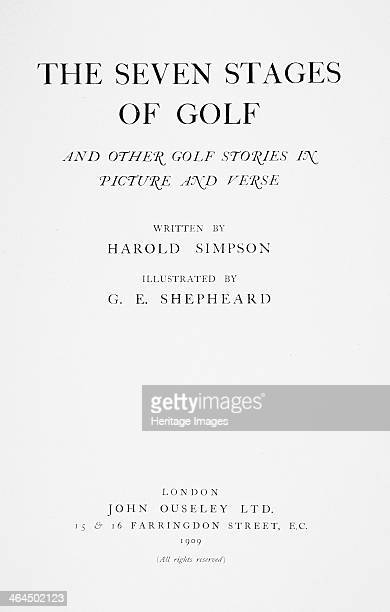 The Seven Stages Of Golf British 1909 And other golf stories in picture and verse written by Harold Simpson and illustrated by cartoonist George...