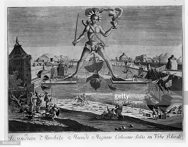 The Colossus of Rhodes 18thCentury Print