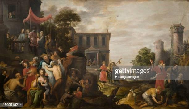 The Seven Works of Mercy, 1637. Found in the collection of Stedelijk Museum Wuyts-Van Campen en Baron Caroly, Lier. Artist Teniers, David, the Elder...