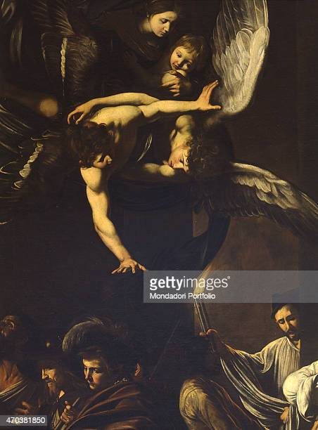 'The Seven Works of Mercy by Michelangelo Merisi known as Caravaggio 16061607 17th century oil on canvas 390 x 260 cm Italy Campania Naples Church of...