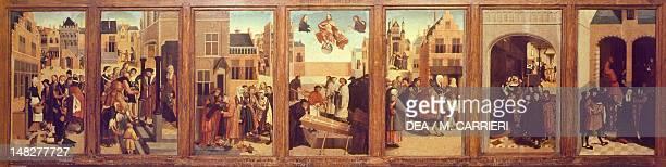 The seven works of mercy work by the Master of Alkmaar Amsterdam Rijksmuseum