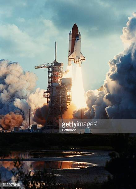 The seventh launch of the Space Shuttle and the second liftoff of the Orbiter Challenger occurred at 733 am EDT today from the Complex 39A launch...