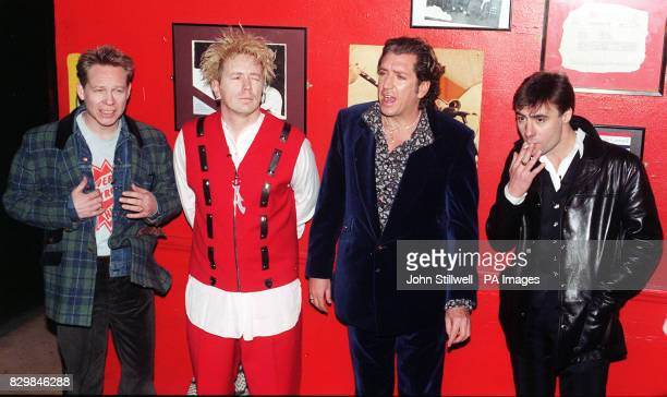 The Sex Pistols Paul Cook John Lydon Steve Jones Glen Matlock during a news conference in London to announce their return * 27/5/02 The Sex Pistols...