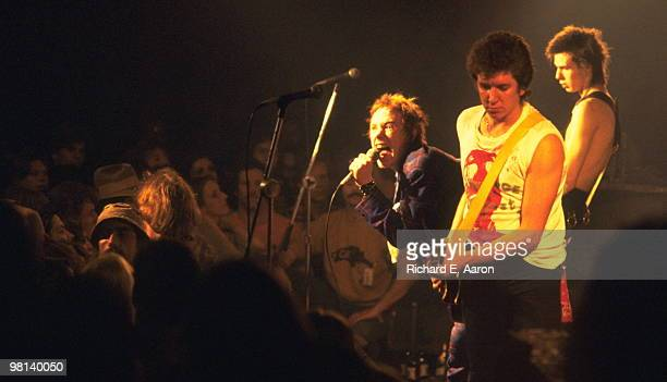 The Sex Pistols perform live onstage at Baton Rouge's Kingfisher Club Louisiana on their final tour on January 09 1978 LR Johnny Rotten Steve Jones...