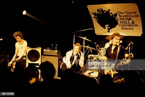 The Sex Pistols performing live onstage at The Great South East Music Hall Atlanta on their final tour on January 05 1978 LR Sid Vicious Johnny...
