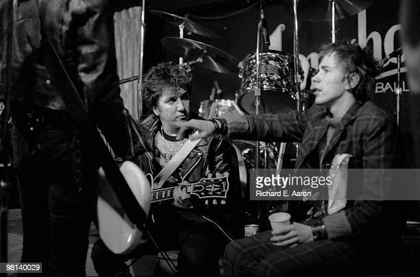 TEXAS The Sex Pistols posed onstage at The Longhorn Ballroom Dallas during their final tour on January 10 1978 LR Sid Vicious Steve Jones John Lydon