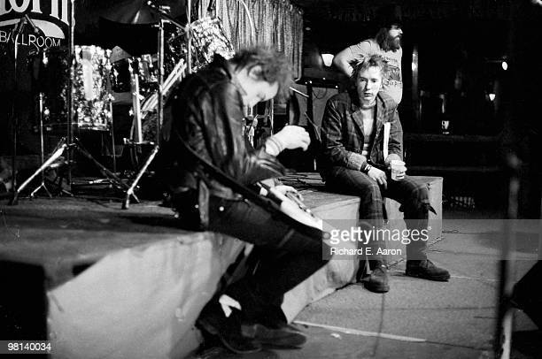 TEXAS The Sex Pistols posed onstage at The Longhorn Ballroom Dallas during their final tour on January 10 1978 LR Sid Vicious Steve Jones