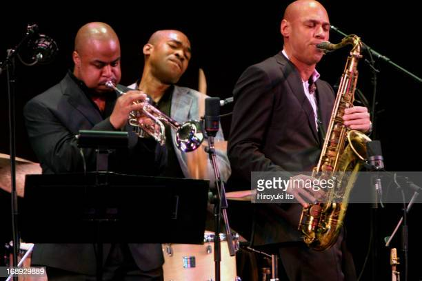 The SFJAZZ Collective performing at Rose Theater on Friday night March 25 2005This imageFrom left Nicholas Payton Eric Harland and Joshua Redman