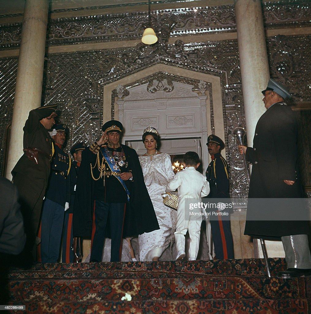 The Shah of Persia and Farah Diba on their wedding day : News Photo