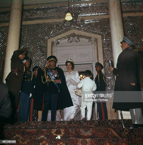 The Shah of Persia and Farah Diba on their wedding day