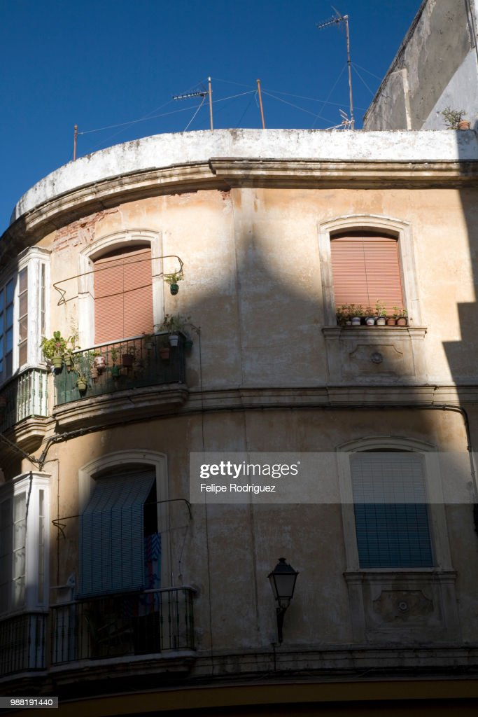 The shadow of a dome on a building : Stock Photo