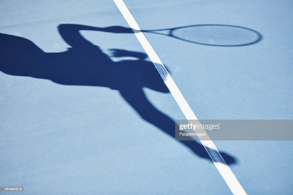 The shadow of a winner : Stock Photo
