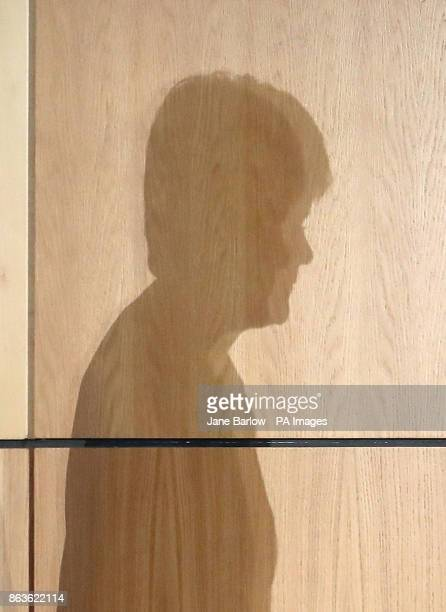 The shadow of First Minister Nicola Sturgeon as she addresses Scotland's Inclusive Growth Conference in Glasgow as she outlines how reducing...