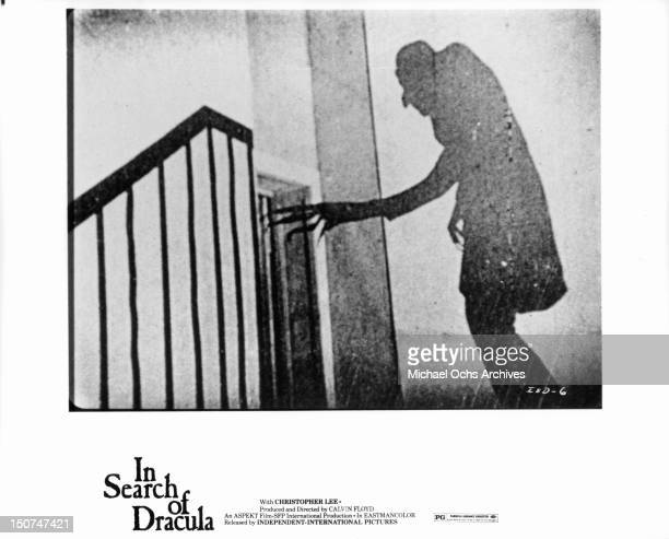 The shadow of Max Schreck playing the title role in F W Murnau's Nosferatu as part of the documentary film 'In Search Of Dracula' 1975