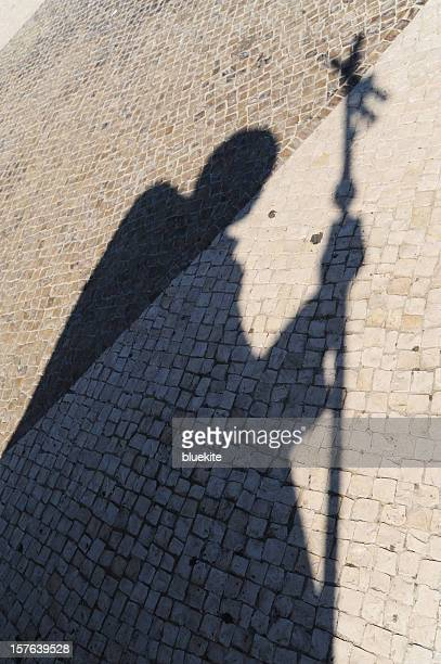 the shadow of pope john paul ii statues - pope stock pictures, royalty-free photos & images