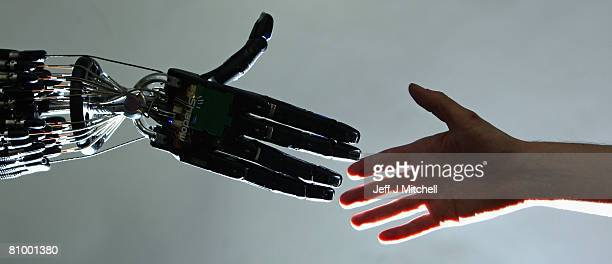 The Shadow Robot company's dextrous hand robot performs a task at the Streetwise Robots event held at the Science Museum's Dana Centre on May 6 2008...