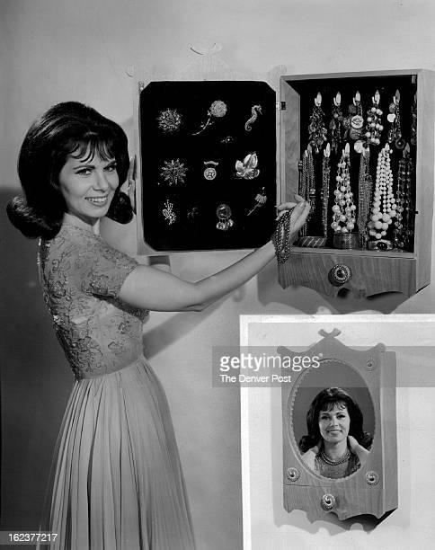 FEB 8 1966 FEB 13 1966 The shadowbox jewel cabinet shown here with Nina Roman of NBC's Morningstar program is both elegant and practical A large...