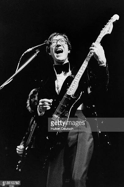 The Shadows guitarist Hank Marvin during a 1977 perfomance