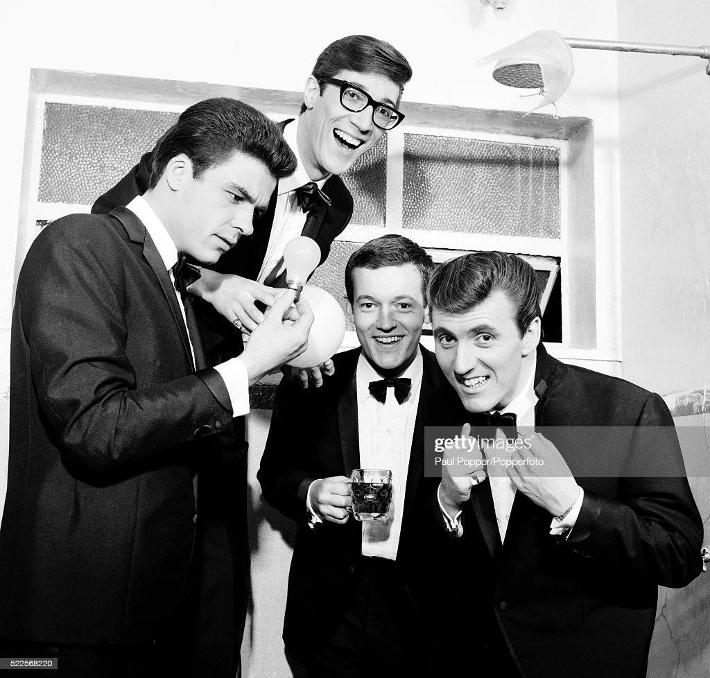 Bruce Welch: The Shadows, Left-right, John Rostill, Hank Marvin, Brian
