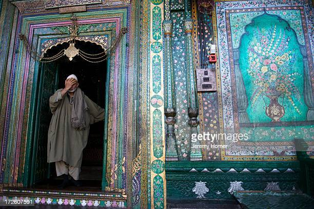 SRINAGAR KASHMIR JAMMU KASHMIR INDIA The Shah Hamdan Mosque or Shrine is situated on the right bank of the Jhelum River is dedicated to the memory of...