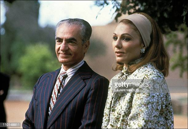 The Shah Of Iran And Farah Dibah In Marrakech Morocco