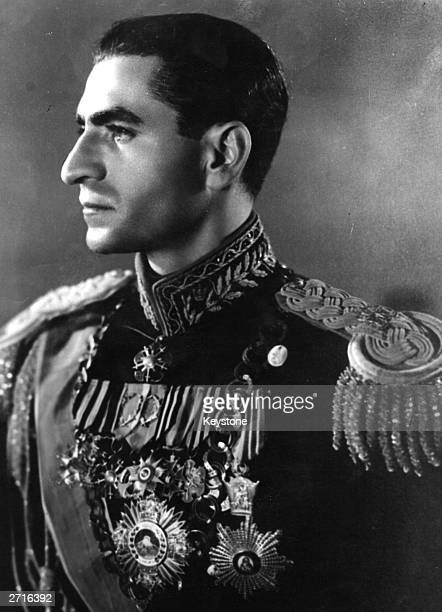 The Shah of Iran at the time he left the country during a period of social and political unrest