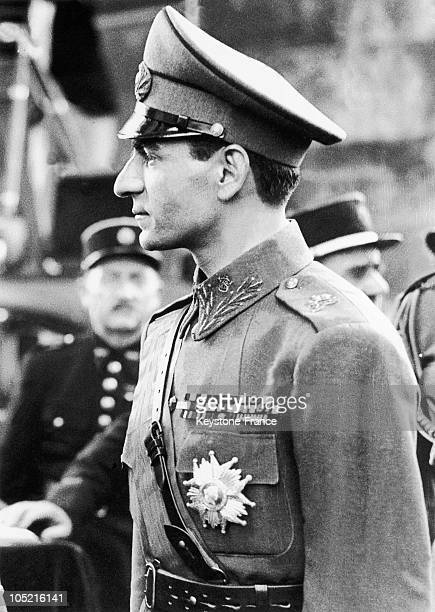 The Shah Of Iran Mohammad Reza Pahlavi During His Visit To The Arc De Triomphe In Paris Where He Came To Lay A Wreath At The Tomb Of The Unknown...