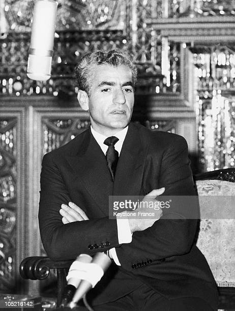 The Shah Of Iran Mohammad Reza Pahlavi Gives A Press Conference A Few Hours Before The Birth Of His Son Prince Reza Ii On October 31 1960 In Tehran