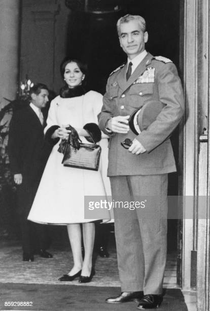 The shah of Iran Mohammed Reza Pahlavi and his wife Farah Diba are seen at the Foreign Affairs Minister in Paris during their official visit 11...