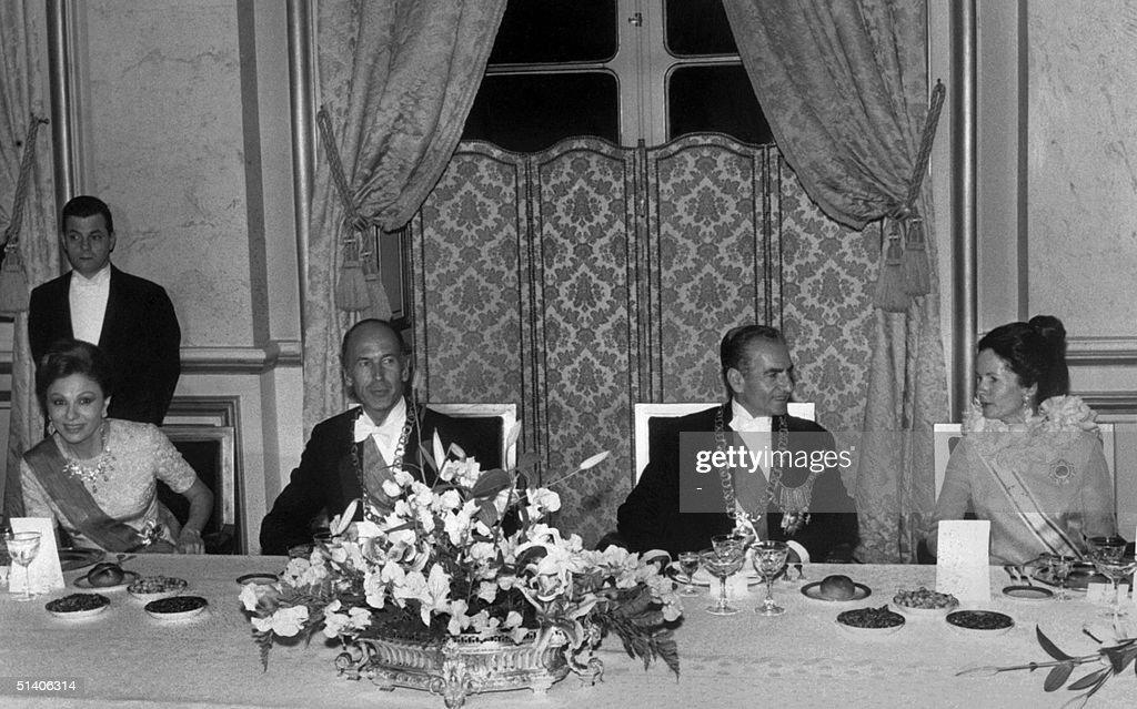 The shah of Iran Mohammed Reza Pahlavi (2dR), his : News Photo