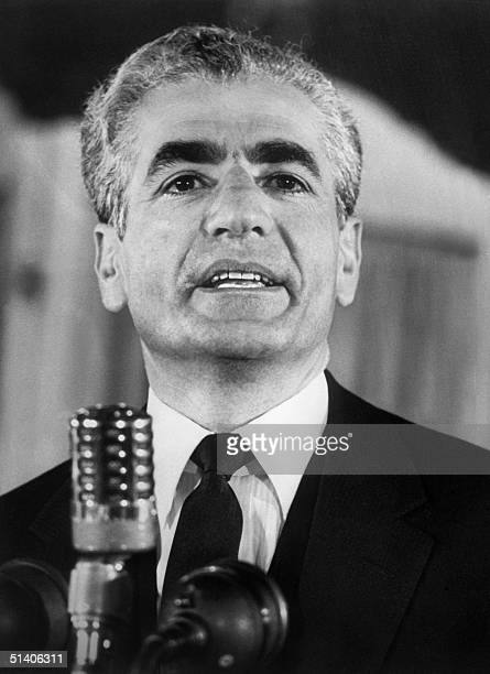 The shah of Iran Mohammed Reza Pahlavi is seen in March 1965 AFP PHOTO CENTRAL PRESS