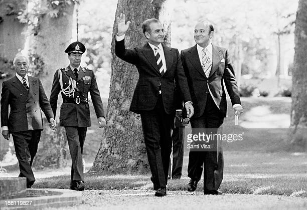 The Shah of Iran saluting on June 12 1977 in Tehran Iran