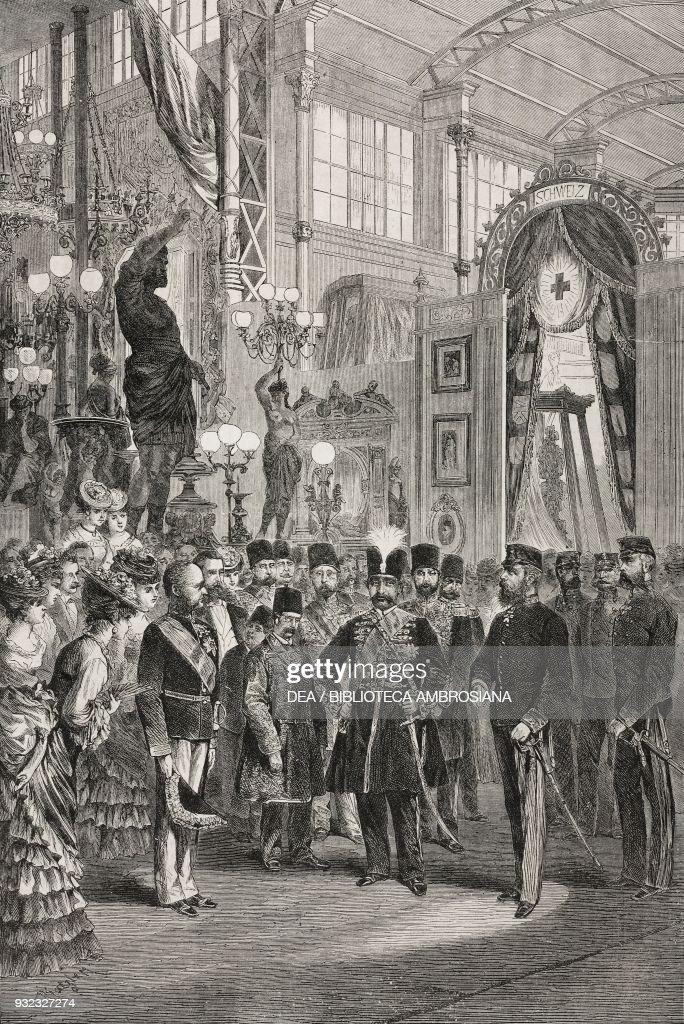 The Shah of Persia, Vienna Universal Exhibition : News Photo