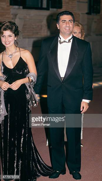The Shah Reza Pahlavi and his wife Yasmine at the gala dinner of the Infanta Cristina and Inaqui Uredangarin 3rd October 1997 Barcelona Catalonia...