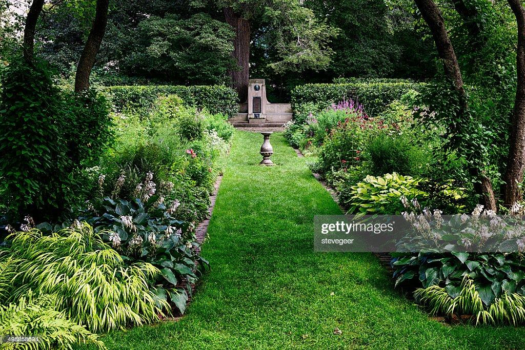The Shakespeare Garden In Evanston Illinois Stock Photo | Getty Images