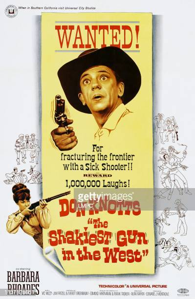 The Shakiest Gun In The West poster center Don Knotts lower left Barbara Rhoades on poster art 1968