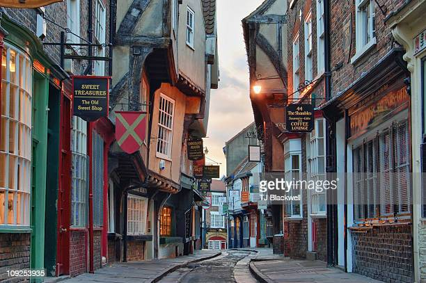 the shambles - york yorkshire stock pictures, royalty-free photos & images