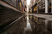 The Shambles reflected. York, North Yorkshire