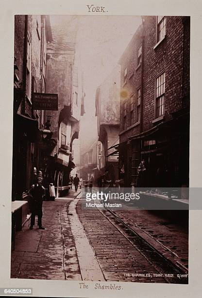 The Shambles Street in York England ca 1880s1890s
