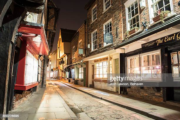 The Shambles, York, England at night