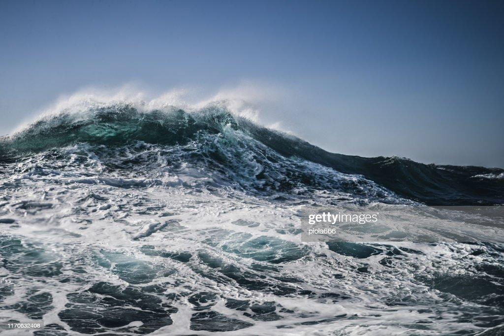 The shape of the sea: waves crashing : Stock Photo