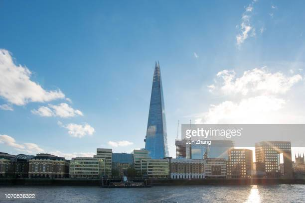 The Shard against bright sun