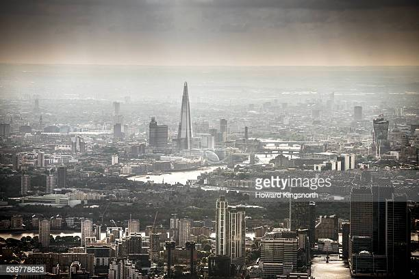 The Shard and City Aerial view